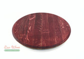 WINE BARREL LAZY SUSAN RED FLAT