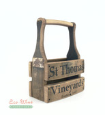 WINE BARREL TWO BOTTLE WINE CARRIER, PERSONALIZED