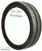 WINE BARREL MIRROR ROUND WALL/ HANDMADE. PERSONALIZED