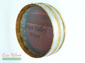 WINE BARREL CORK HOLDER ROUND WALL/ HANDMADE. PERSONALIZED