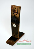 God bless the USA Bottle Opener Black