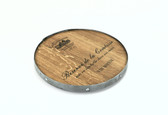 WINE BARREL LAZY SUSAN  BOTTOM METAL RING,  17''