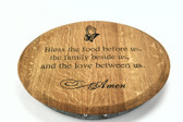 WINE BARREL LAZY SUSAN RAISED 17''