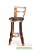 Wine  Barrel Vinyl Chair Swivel