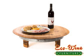 WINE BARREL LAZY SUSAN RAISED