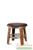 Wine Barrel Vinyl Stool Round Small