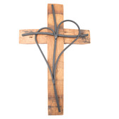 Wine Barrel Cross One Heart Black 10'' 14'' 18''