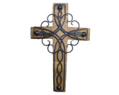 Wine Barrel Cross Clover Black 10'' 14'' 18''