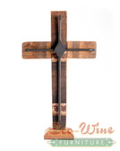 Wine Barrel Cross Diamond Black With Stand 11'' 15'' 19''