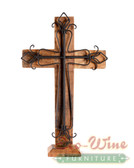 Wine Barrel Cross Crown Black With Stand 11'' 15'' 19''