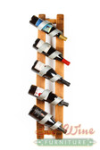 WINE BARREL FIVE BOTTLE WALL DISPLAY