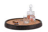 Whiskey Barrel Lazy Susan 1