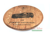 WINE BARREL LAZY SUSAN FLAT SONOMA COUNTY