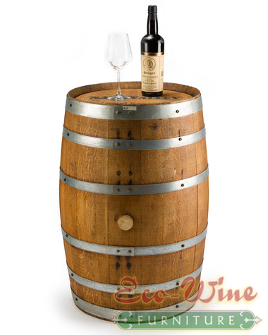 Our oak Wine Barrel  completes the look of any wine cellar.  also use this as the base for  table.