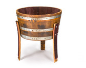 1/2 Wine Oak barrel planter With Legs/ Handmade