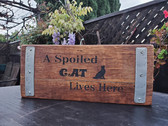 Wine Barrel Sign, A Spoiled Cat Lives Here