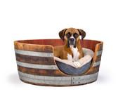 WINE BARREL DOG BED LARGE