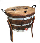 WINE BARREL 30 GALLONS ICE COOLER 2