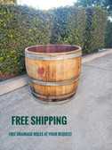 WINE BARREL 3/4 BARREL PLANTER