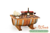 Each table truly is one of a kind. Hand Made.  The table top easily opens providing a large storage space
