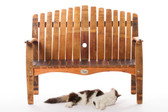 WINE BARREL LOVE SEAT BENCH