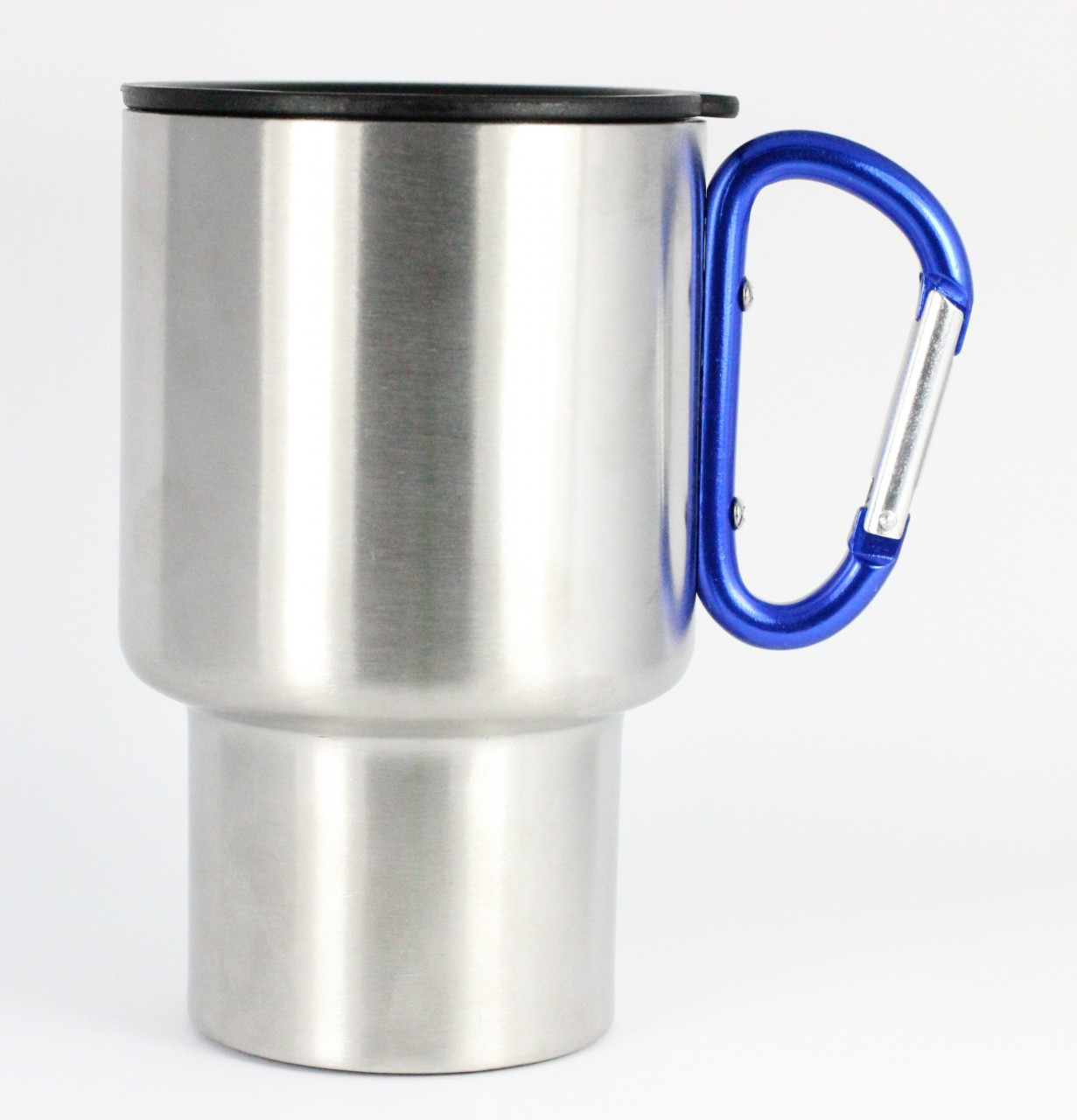 Stainless Steel Travel Mug Blue Handle 14 Oz Ags Brands