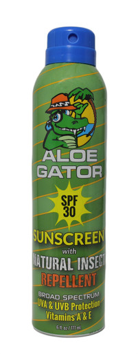 Aloe Gator SPF 30 Sunscreen with Natural Insect Repellent