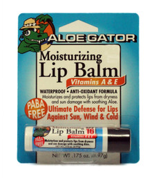 Aloe Gator Lip Balm SPF 30 Moisturizing (Lemon Lime) Carded