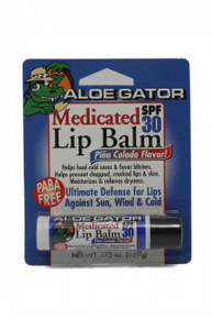 Aloe Gator Lip Balm SPF 30 Medicated Carded