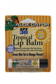 Aloe Gator Tropical Lip Balm SPF 30 Carded