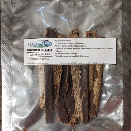 Catappa bark is rich in tannins which can help create a blackwater environment for your fish and shrimp.