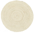Round Jute Natural Rug Bleached (ux)