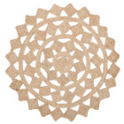 Round Jute Natural Tessellate Rug (ux)