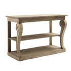 Ningbo Natural Console Table - Solid Marine Timber