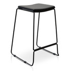 CBS2455-NH Black PU Bar Stool - Black Frame (cf)