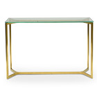 CDT2362-KS 1.2m Glass Console Table - Gold Base (cf)
