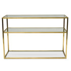 CDT2363-KS 1.2m Glass Console Table - Gold Base (cf)