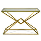 CDT2364-KS 1.2m Glass Console Table - Gold Base (cf)