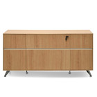 CDT2494-SN 2 Drawer Filing Cabinet with Cupboard - Natural (cf)