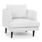 CLC2190 Armchair - Light Texture Grey - Black Legs (cf)