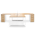 COT2501-SN-OT088 Corner Cluster Workstation  With Screen - Natural (cf)