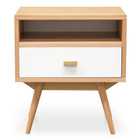 CST2126-KD Bedside Table - Natural - White (cf)