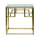 CST2426-BS Side Table - Glass Top - Brushed Gold Base (cf)