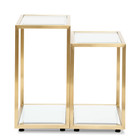 CST2586-BS Glass Side Table - Brushed Gold Base (cf)