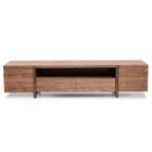 CTV2610-BB Lowline Entertainment TV Unit In Walnut - Timber Legs (cf)