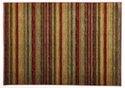 Rustic Stripe Stripped Rug Red (ux)