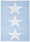 Coastal Indoor Out door Rug Star Sky Blue White (ux)