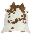 Exquisite Natural Cow Hide Brown White (ux)