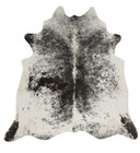 Exquisite Natural Cow Hide Salt & Pepper Black (ux)