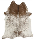Exquisite Natural Cow Hide Salt & Pepper Brown (ux)